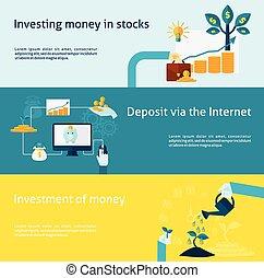 set, spandoek, investering