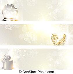 set, spandoek, kerstmis