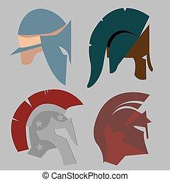 Set Spartan Helmet