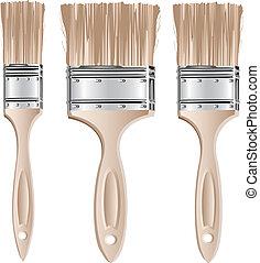 set, spazzole
