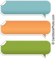 Set Speech Bubble Frames - 3 Speech Bubble Frames, Isolated...