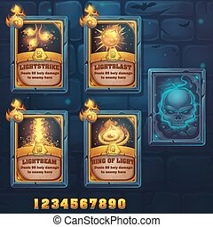 Set spell cards of light school