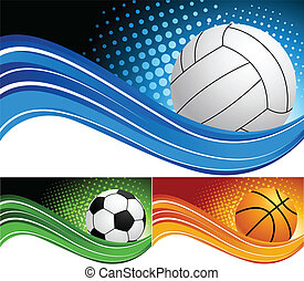Set sport background