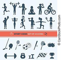 set, sport, icone