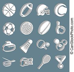 set, sporten, pictogram