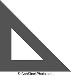 Set Square - Square, set, ruler icon vectgor image. Can also...