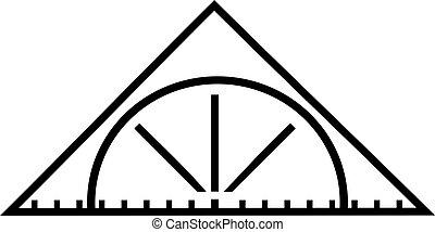 Set square triangle ruler