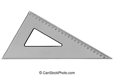 Set square triangle used in engineering and technical ...