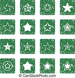 set stella, grunge, icone