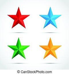 set, stella, icona