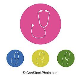 set, stethoscope