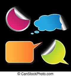 set, stickers., colorato