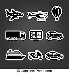Set stickers transport