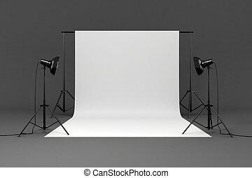 set, studio, 3d