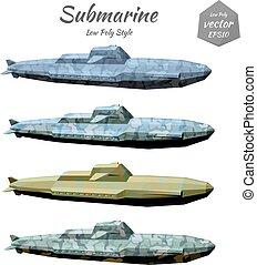 Set submarines khaki