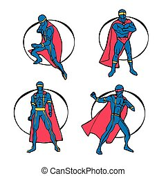 set, superhero