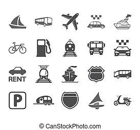 set., szállítás, ikon