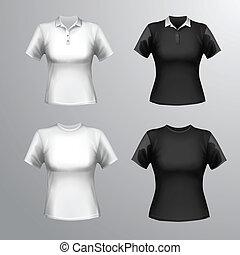 set, t-shirts, femmina