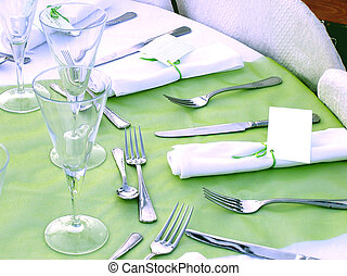 set table, catering setup
