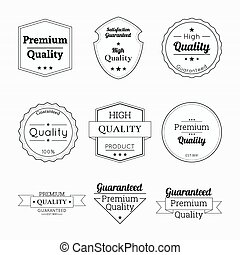 Set tags with ribbons and labels. - Set tags of Premium...