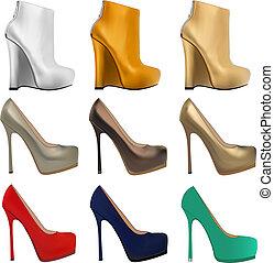 set, talloni, scarpe donne