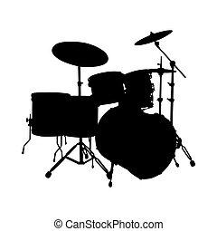 set tamburo, silhouette