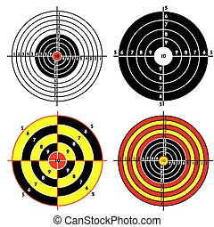 Set targets for practical pistol shooting, exercise. Vector ...
