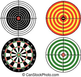 Set targets for shooting practice