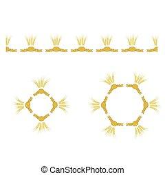set, tarwe, pictogram