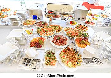 set, tavola, ristorazione, servizio