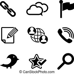 set, tecnologia, multimedia, icone