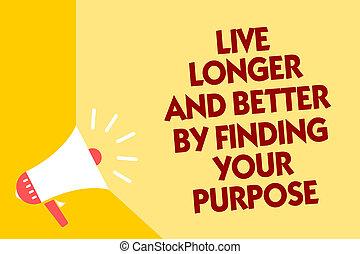 set, tekst, missie, geel teken, boodschap, jouw, luidspreker, doel, beter, leven, foto, bevinding, megafoon, het spreken, loud., het tonen, purpose., conceptueel, belangrijk, achtergrond, langer, blik