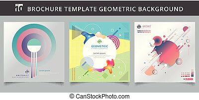 Set template geometric covers design.