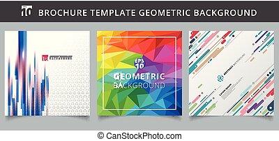 Set template geometric covers design.