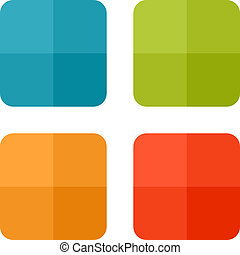 Set templates - Templates for web icons or flat design ...