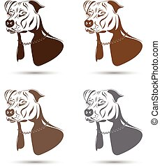 set, terrier, staffordshire, cane