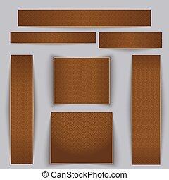 set., texture, parquet., textured, bannières, érable