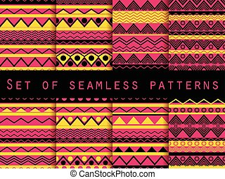 Set the texture seamless in ethnic style. Tribal seamless...