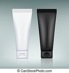 Set the tube of cream. Packaging for cosmetics.