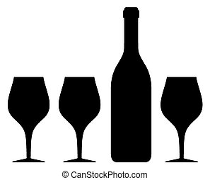 glass and bottle silhouette