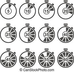 set, timer, icona