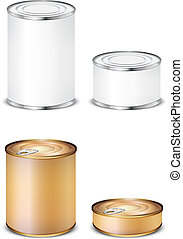 set tin isolated on white