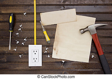 Set to install the electrical outlet