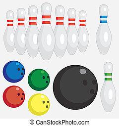 set, tools., bowling