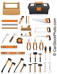 set tools icons vector illustration