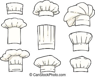 Set toques on a white background vector illustration
