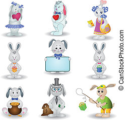 Set toy rabbits