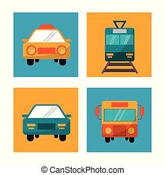 set transport vehicle travel vacation