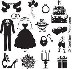 set, trouwfeest