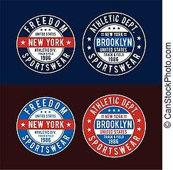 Set Typography Design For T-shirt Print